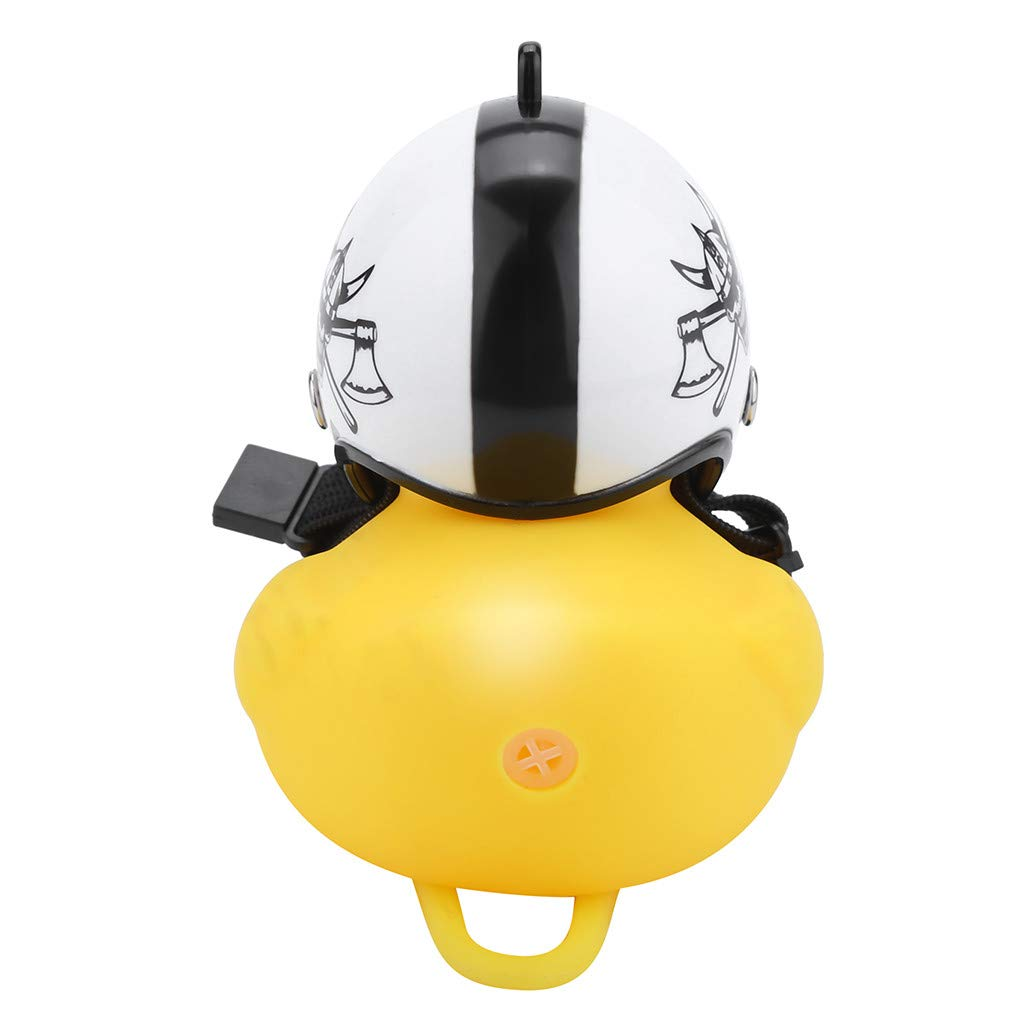G Weisfe78 Bike Horn Lights,Rubber Duck Shape Squeeze Horns Helmet Handlebar Bell Light Bicycle Lamp for Toddler Children Adults Kids Cycling Toys Light