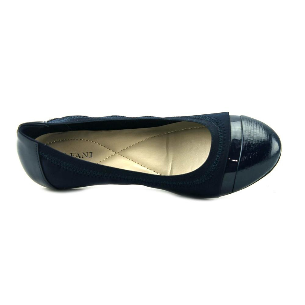 6551ac7084db9 Alfani Womens Jeamah2 Cap Toe Slide Flats