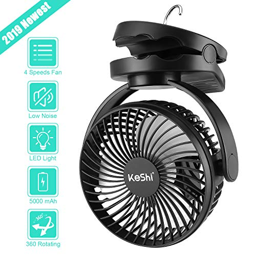 Portable Fan With Led Light in US - 6