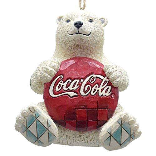 Enesco Coca-Cola by Jim Shore 4059722 Coke Polar Bear with Coke Logo Hanging Ornament (Cola Collectible Coca)