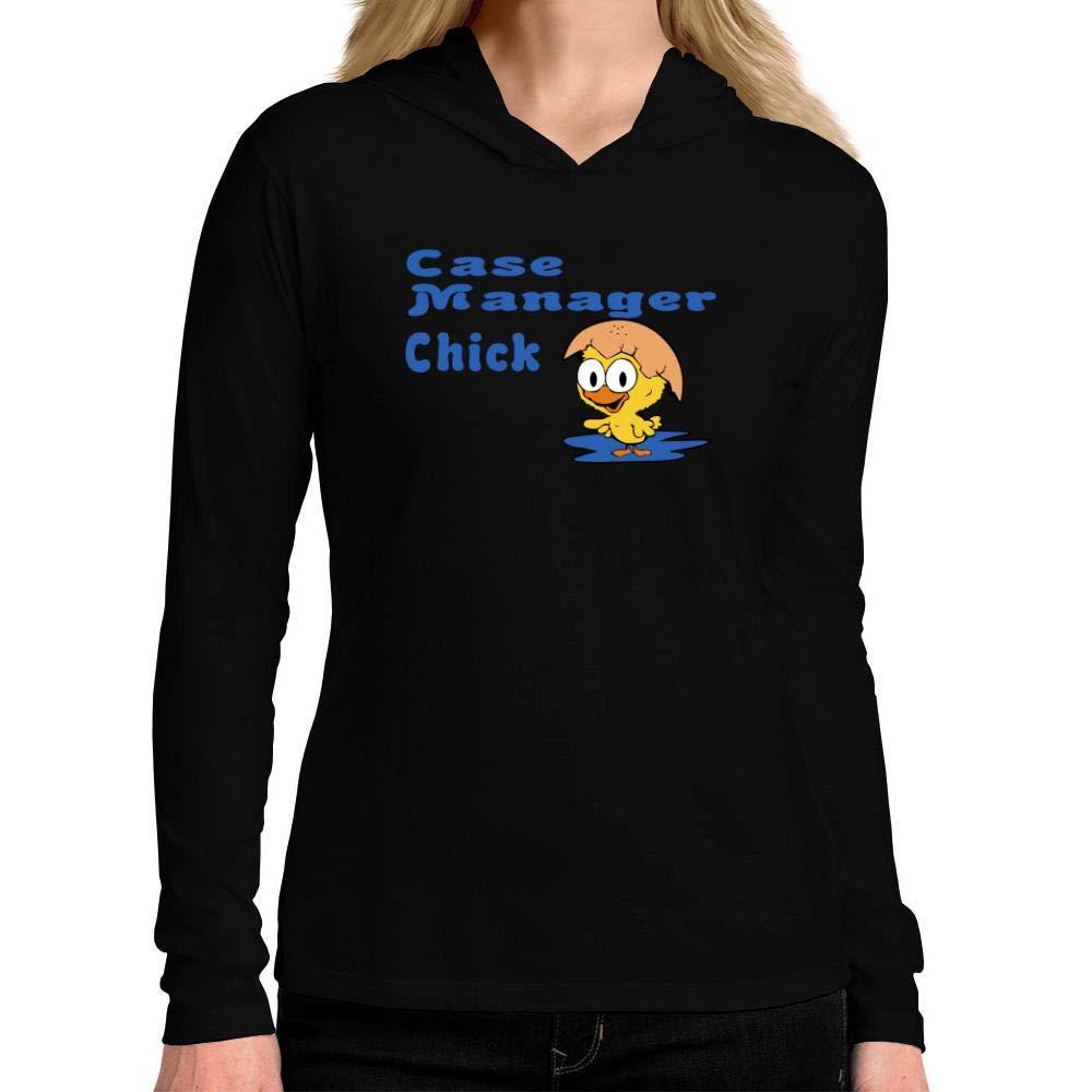 Idakoos Case Manager Chick Women Hooded Long Sleeve T-Shirt