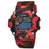 Children's Cool Camouflage Analog Fashion Sport Watches Quartz Wrist Watches Red