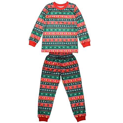 Manica Xfentech Verde Per Pantaloni Bambini Corrispondenza Lunga Mamma Famiglia Natale bambini Top Albero Papà Di Pigiama xxCqHtSwaT