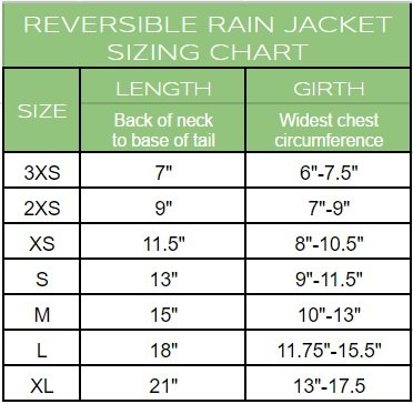 Reversible Rain Jacket for dogs (XL, Yellow) by Go Fresh Pet (Image #2)