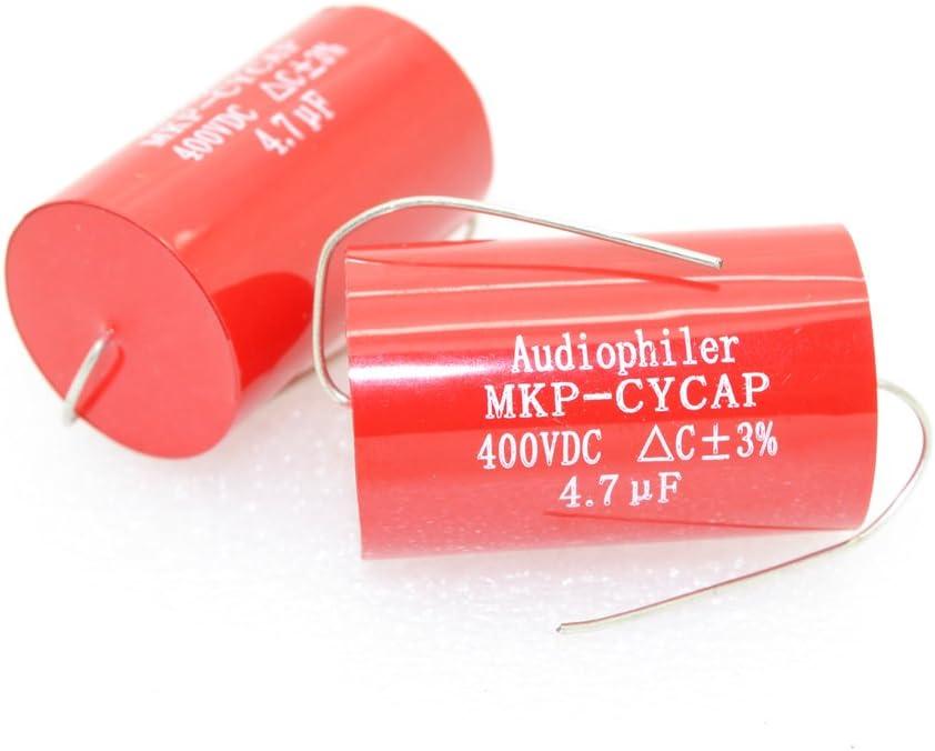 6pcs MKP CYCAP 4.7uF 400V Tubular Audio Capacitor MKP-kondensotor-4170