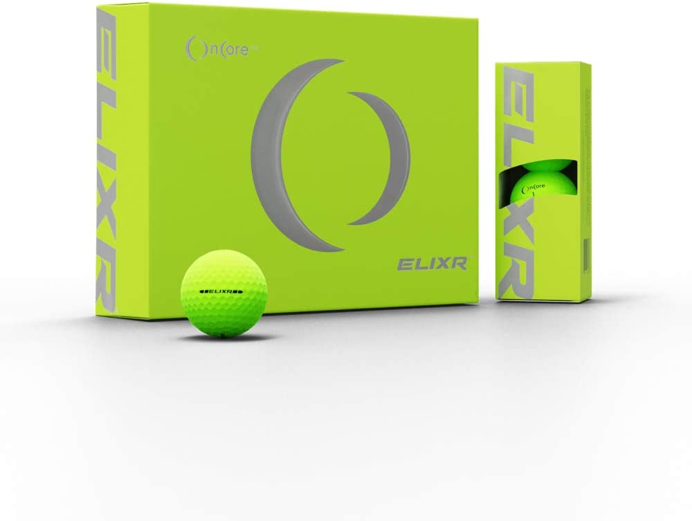 ONCORE GOLF - ELIXR Tour Ball | High Performance Golf Balls - (One Dozen | 12 Premium Golf Balls) Unmatched Control, Distance, Feel and Performance