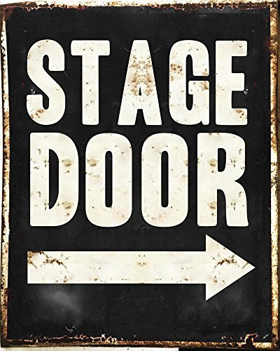 amazon com hiusan stage door metal signs retro shabby chic metal