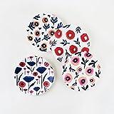 Poppy Plates - Set of Four 9'' Melamine Plates