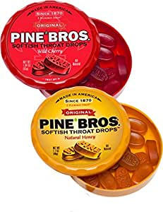 The Vermont Country Store Health & Beauty Pine Bros. Throat Drops (Set of 3 Containers)