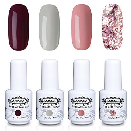 Perfect Summer Gel Nail Polish Set Soak Off Nail Lacquer UV