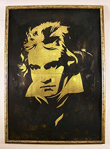- Beethoven wall art by InSpiral Tree | Portrait, Music lover gift, Metal artwork - A groundbreaking, new way to display your preffered art on brass/copper - bar, restaurant decor, poster, man cave