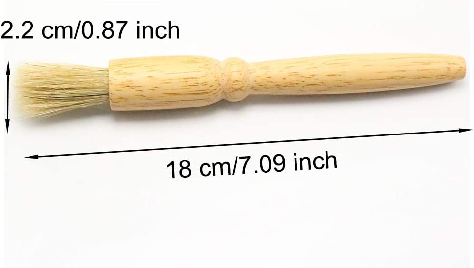Camping Picnic Bristle Pastry Brush Heat Resistant DIY Cooking Tools for Kitchen EORTA 4 Pieces Cooking Oil Brushes Basting Brush with Wooden Handle for BBQ and Baking 7