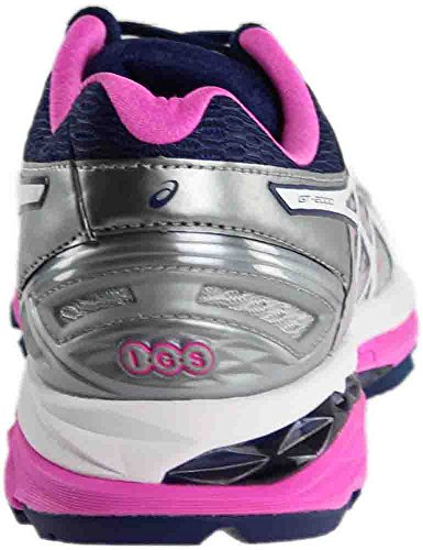 Pictures of ASICS Women's Gt-2000 5 Running Shoe T759N.9601 Pink Glow/White/Dark Purple 6
