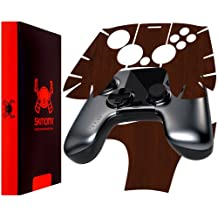 Skinomi TechSkin - OUYA Controller - Dark Wood Full Body Skin Protector / Front & Back Premium HD Clear Film / Ultra Invisible and Anti Bubble Crystal Shield
