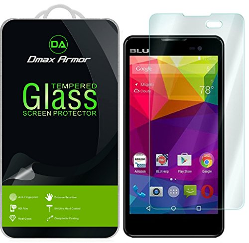 Dmax Armor for BLU Advance 5.0 [Tempered Glass] Screen Protector with Lifetime Replacement Warranty