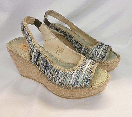 Vidorreta sandalo corda zeppa 37100 salon ribete lurex multicolor made in Spain