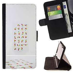 """For Samsung Galaxy Note 5 5th N9200,S-type Random Arte Abstracto colorido"""" - Dibujo PU billetera de cuero Funda Case Caso de la piel de la bolsa protectora"""