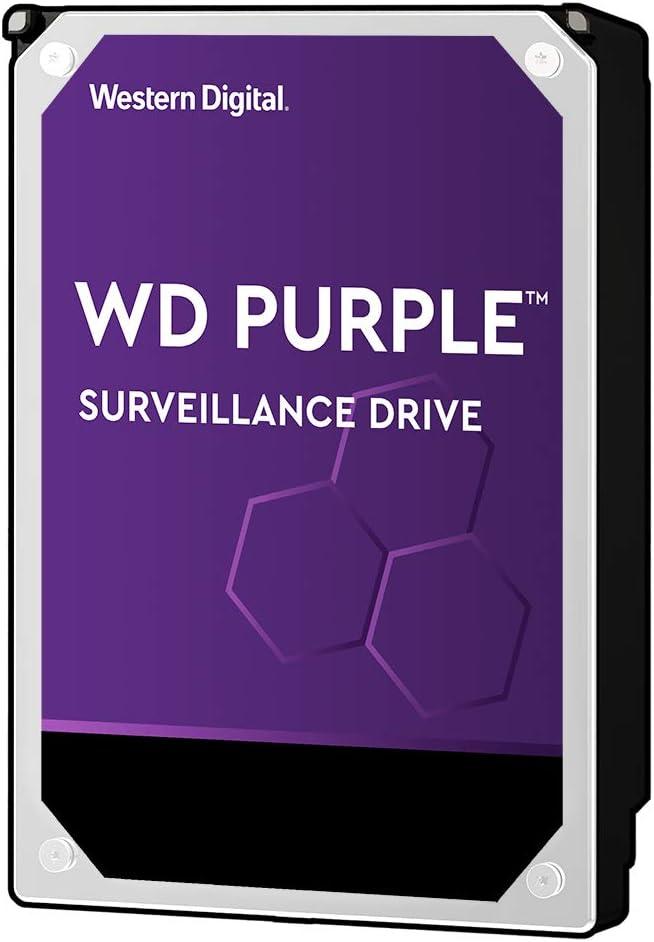 """Western Digital 10TB WD Purple Surveillance Internal Hard Drive - 7200 RPM Class, SATA 6 Gb/s, , 256 MB Cache, 3.5"""" - WD102PURZ"""