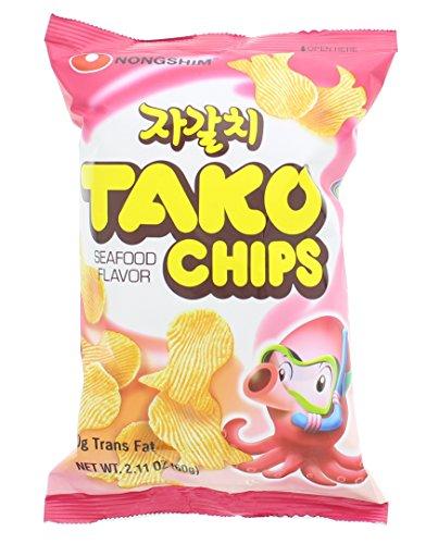 Nongshim Tako Chips Octopus Favored Snack 60g. X 1 Bag