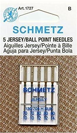 Amazon.com: euro-notions Ball Point Jersey máquina Agujas ...