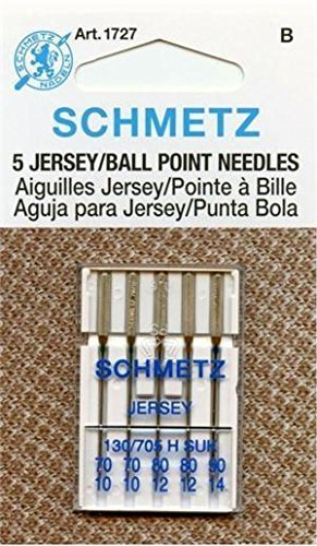 - Euro-Notions Ball Point Jersey Machine Needles Assorted Sizes