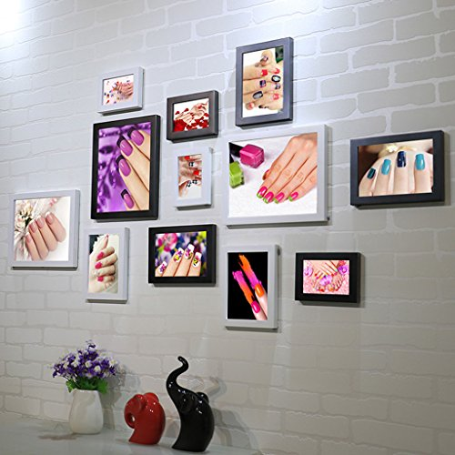 Home@Wall photo frame Nail Shop Photo Wall Background Wall Paintings Beauty Salon Nail Art Cosmetics Shop Decorative Painting Frame Wall (Color : C) by ZGP