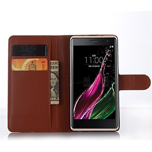 LG Class funda , LG Class / F620 / H740 funda , Lifetrut® [ marrón ] [Función Monedero] magnético del caso de la cartera premium Monedero Snap Case incorporado ranuras para tarjetas Voltear cubierta d