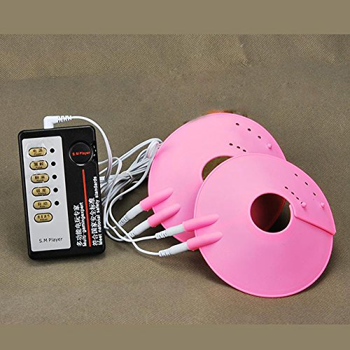 4 Frequency Vibrating Breast Dual Cup Bust Enhancer Muscle Massager Chest Pad