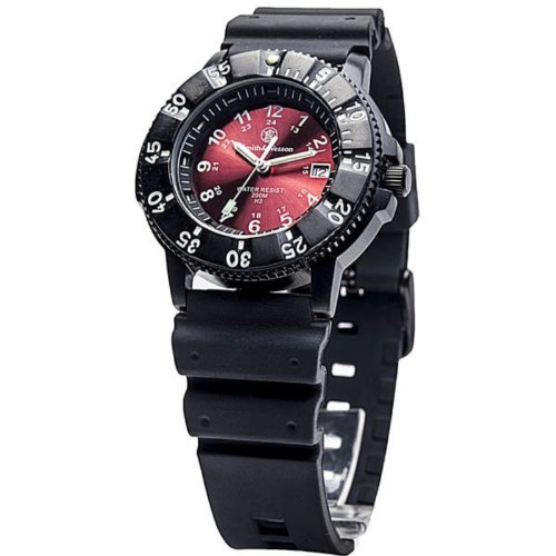 Smith & Wesson Men's SWW-450-RED Sport Swiss Tritium H3 Red Dial Black Band Watch - Smith And Wesson Tritium Watch