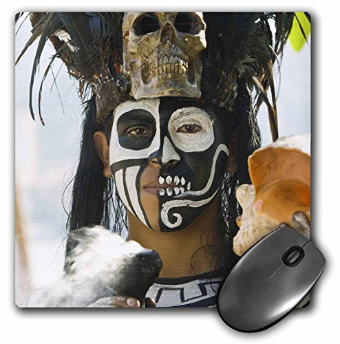 3dRose LLC 8 x 8 x 0.25 Inches Mouse Pad, Mexico Guerrero Zihuatanejo Mayan Culture Walter Bibikow (mp_86839_1)