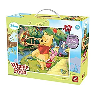 King 5274 Winnie The Pooh Big Floor Puzzle Pezzi 60 X 50 Cm