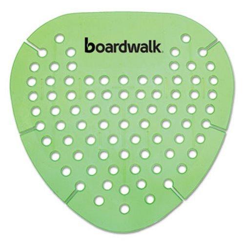 Boardwalk Gem Urinal Screen, Lasts 30 Days, Green, Herbal Mint Fragrance, 12/Box