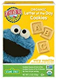 Earth's Best Organic Cookies, Toddler Snacks, Very Vanilla, Sesame Street Letter of the Day, 5.3 Ounce (Pack of 6)