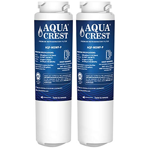 Price comparison product image AQUACREST MSWF NSF 53&42 Replacement Refrigerator Water Filter,  Compatible with GE MSWF SmartWater 101821B 101820A (Pack of 2)
