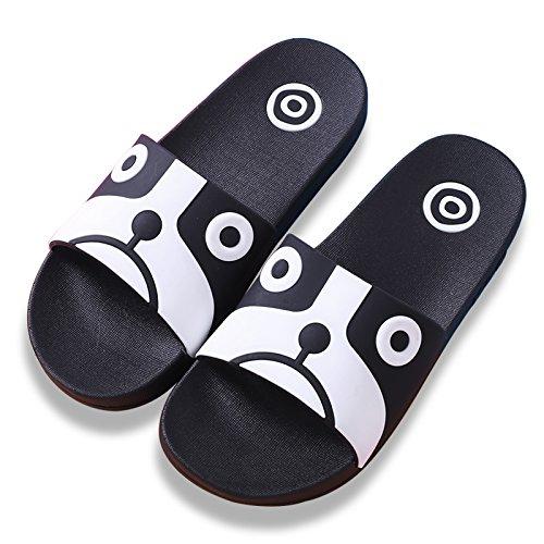 Y-Hui, un par de zapatillas, una familia de verano, tres padres, un espeso Skid Proof Hombre, un hijo de la casa, el baño interior zapatillas Dog black