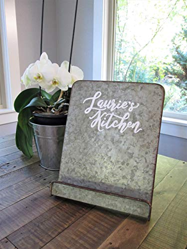 blet holder for kitchen- rustic farmhouse kitchen- PERSONALIZE with name! Custom paint colors! ()