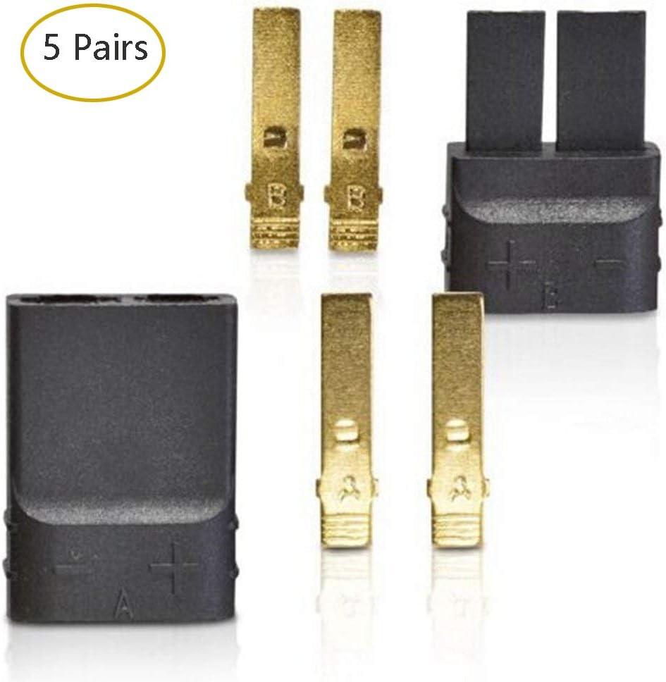 Youme 5 Pares (10 Piezas) Traxxas/TRX enchufes Lipo/NiMh Brushless ESC Battery Conector RC