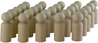 product image for Unfinished Boy Peg Doll 1-11/16 Inch - Bag 25 Wood Boy Doll Bodies by Woodpeckers
