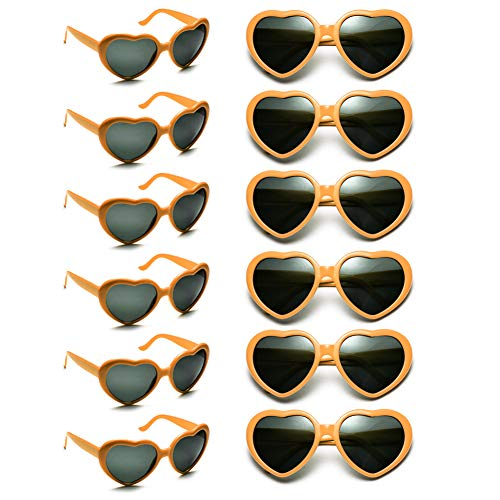 12 Pack Wholesales Heart Shape Design Neon Colors