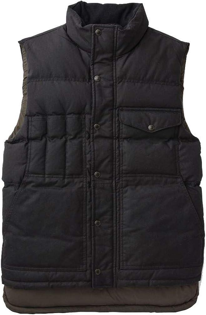 Filson Down Cruiser Vest Blue Coal XL at  Men's Clothing store