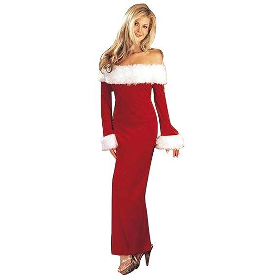 DoraMe Costume Da Babbo Natale Donna Miss Santa Per Natale Feste O Party da0b7b81c0f