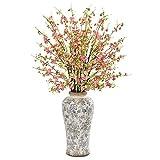 "Nearly Natural 1888-PK 37"" Cherry Blossom Artificial Decorative Vase Silk Arrangements Pink"