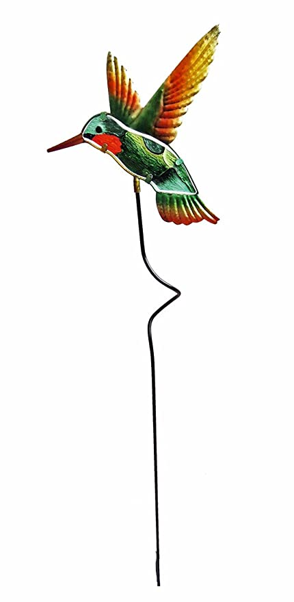 Captivating Continental Art Center CAC2905A Hummingbird Garden Stake, 9.06 By 1.57 By  36.22 Inch
