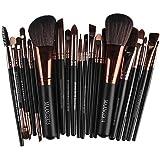 Hohaski Makeup Brush Set, 22 Pcs Cosmetic Super Synthetic Hair Brushes Make Up Tool Toiletry Kit