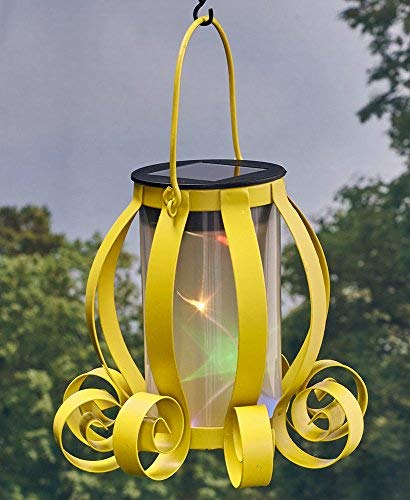 The Lakeside Collection Colorful Solar Scroll Lanterns Yellow