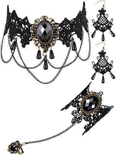 Tatuo Black Necklace Set...