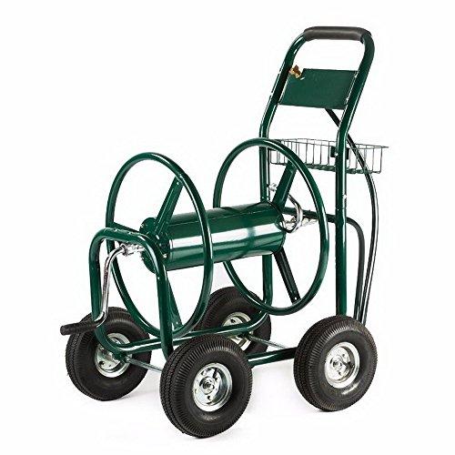 garden-water-hose-reel-cart-300ft-outdoor-heavy-duty-yard-water-planting-new