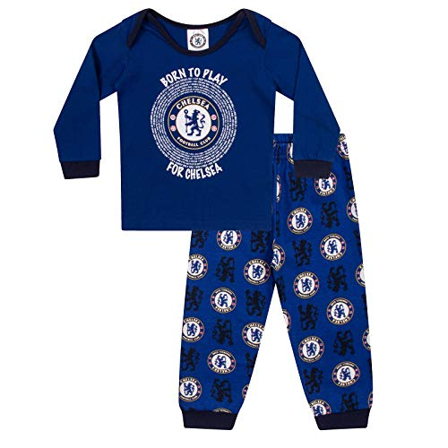 (Chelsea FC Official Soccer Gift Boys Kids Baby Pajamas 9-12)