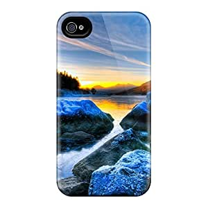 ZvQSBRH5379AWuYx Case Cover Frost At Sunrise On The River Iphone 4/4s Protective Case
