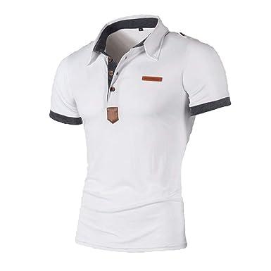 Camisas De Polo Hombres Tops Cuello De Solapa Camisas Ropa De ...